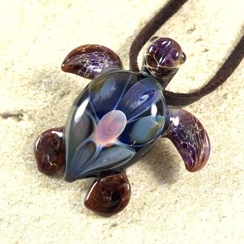 Baby sea turtle necklace glass beads pendant Handmade custom jewelry Lampwork beads Glass flowers Boro beads by RyanJesseeglass on Etsy https://www.etsy.com/listing/512298268/baby-sea-turtle-necklace-glass-beads