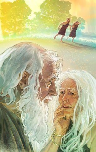 나이 든 아담과 하와의 모습