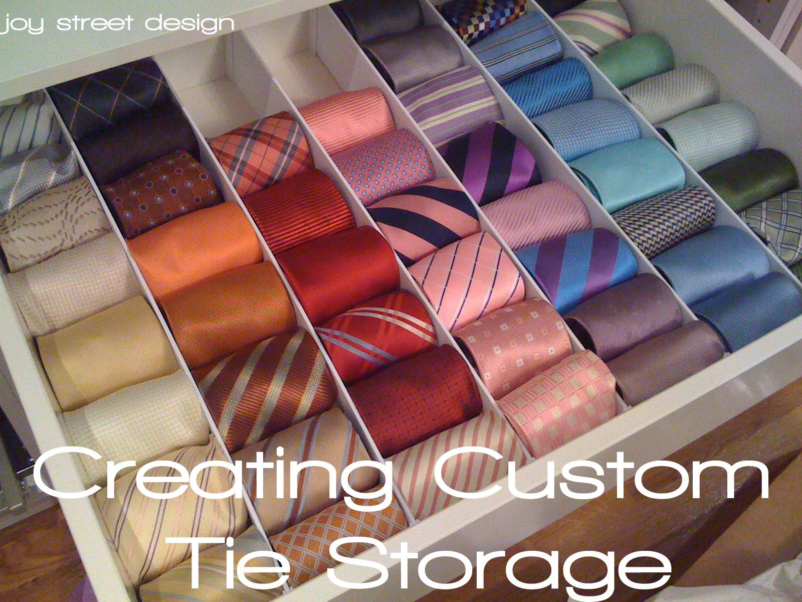 I thought it would be a good way to end the week with an easy DIY project (which never seems to be the case!). My hubby has to wear a suit (and tieu2026 : diy tie storage  - Aquiesqueretaro.Com