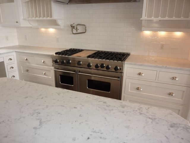 Bianco Carrara Marble Countertops Kitchen Interior Kitchen