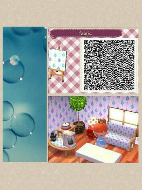 Blue And White Wallpaper Pattern Qr Codes Animal Crossing