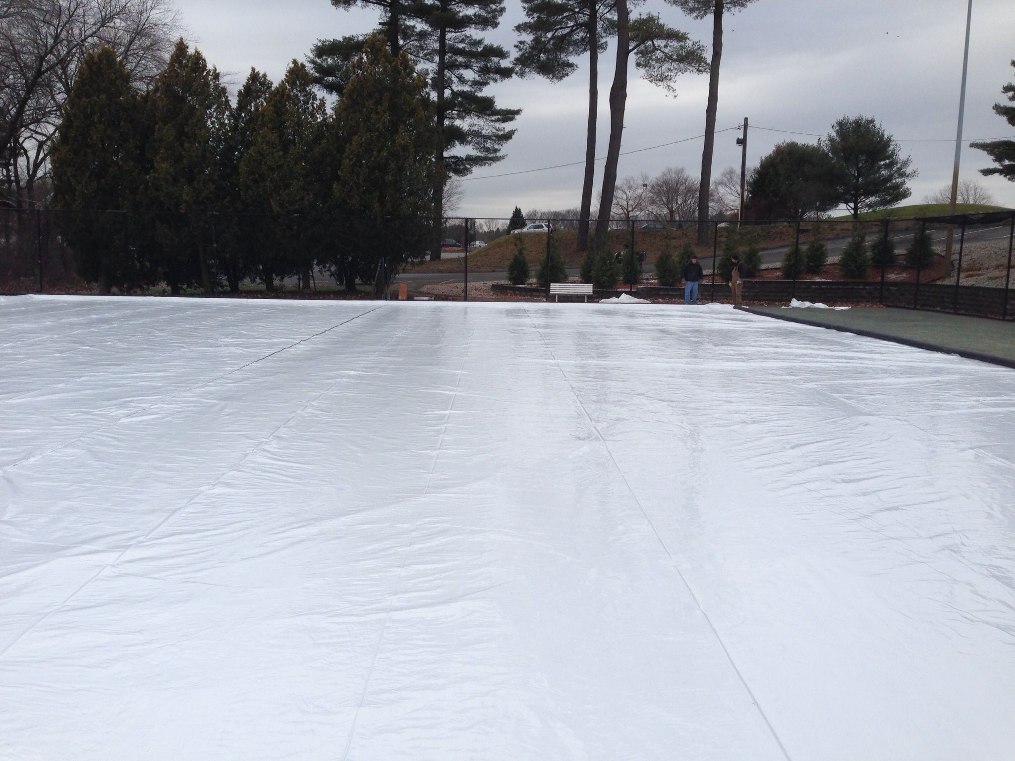 Ice rink construction is complete......now we just need it ...