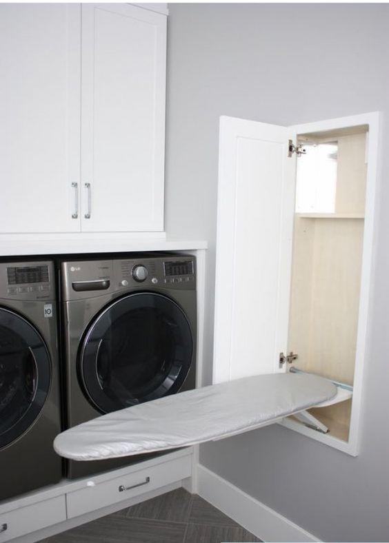 les meilleures id es pour ranger et organiser la buanderie astuces rangement repasser et. Black Bedroom Furniture Sets. Home Design Ideas