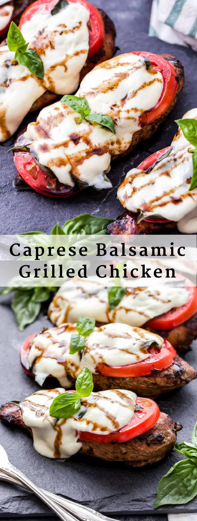 Caprese Balsamic Grilled Chicken - Recipe Runner