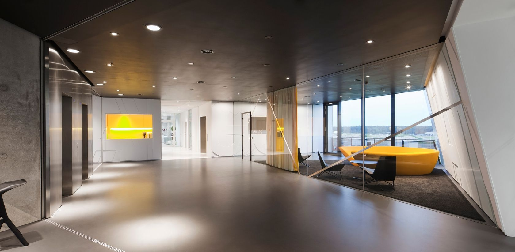 Adidas Corporate Office Headquarters Interior Design | Cool glass ...