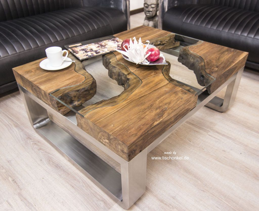 Couchtisch Aus Holz 100x80 Cm Holz Couchtisch Wohnzimmertisch Aus Cm Holzstamm Landscape Tisch Wild Sheesham Bauen Tischonkel Coffee Table Table Home Decor