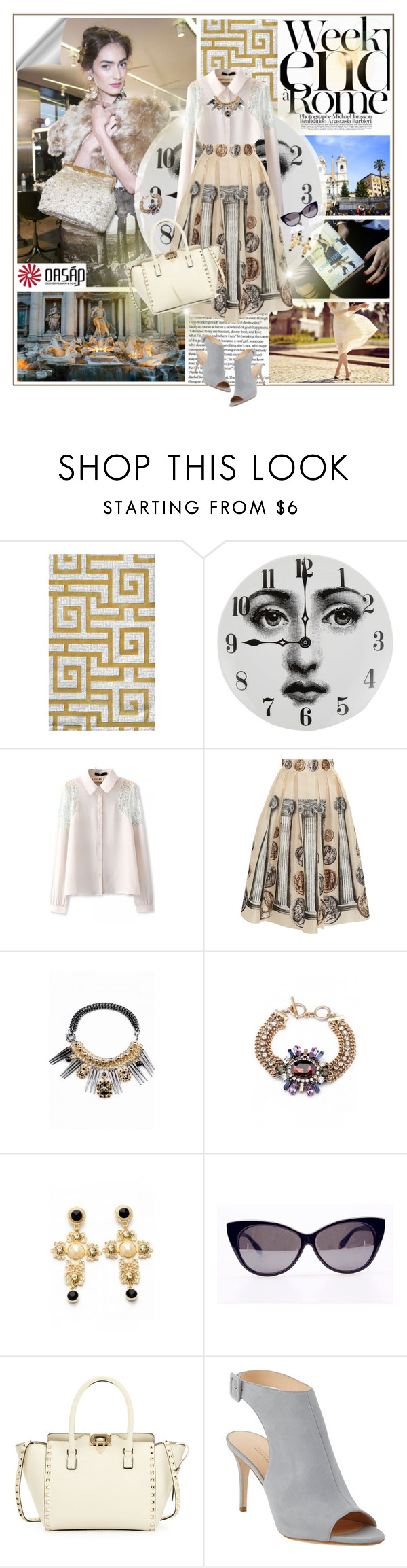 """OASAP Love Rome 2"" by undici ❤ liked on Polyvore featuring LARA, Fountain, Dolce&Gabbana, Fornasetti, Valentino and Barneys New York"