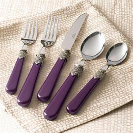 20 Pc Purple Flatware Set Dinnerware Flatware Brylanehome Purple Home Purple Kitchen