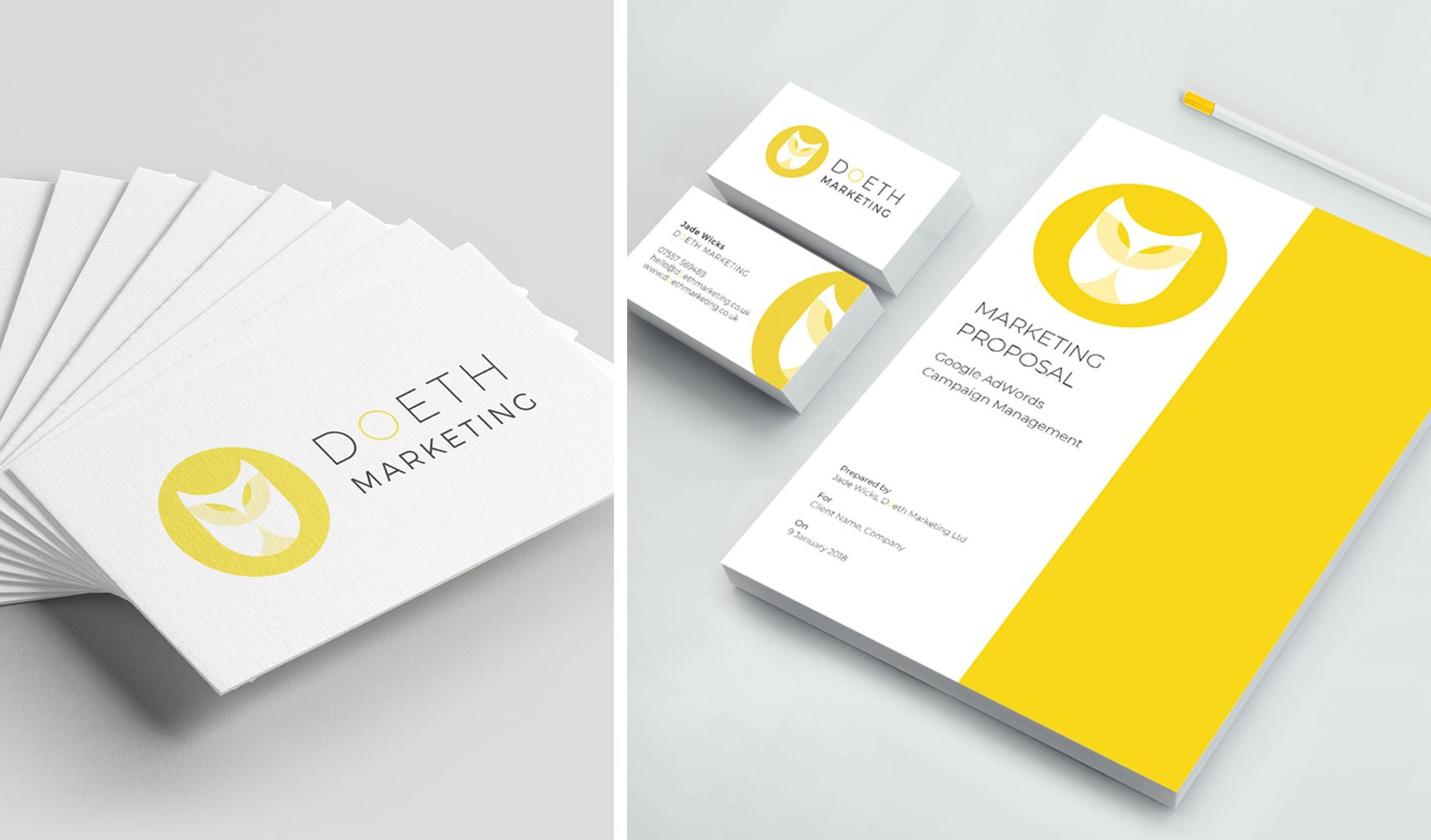 Doeth Marketing Branding Business Cards And Proposal Brand Marketing Branding Brand Specialist