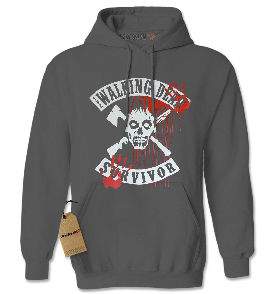 The Walking Dead Survivor Adult Hoodie Sweatshirt