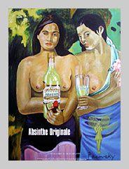Grande Absente Absinthe Originale art- Homage a Gaugin- by John Pacovsky