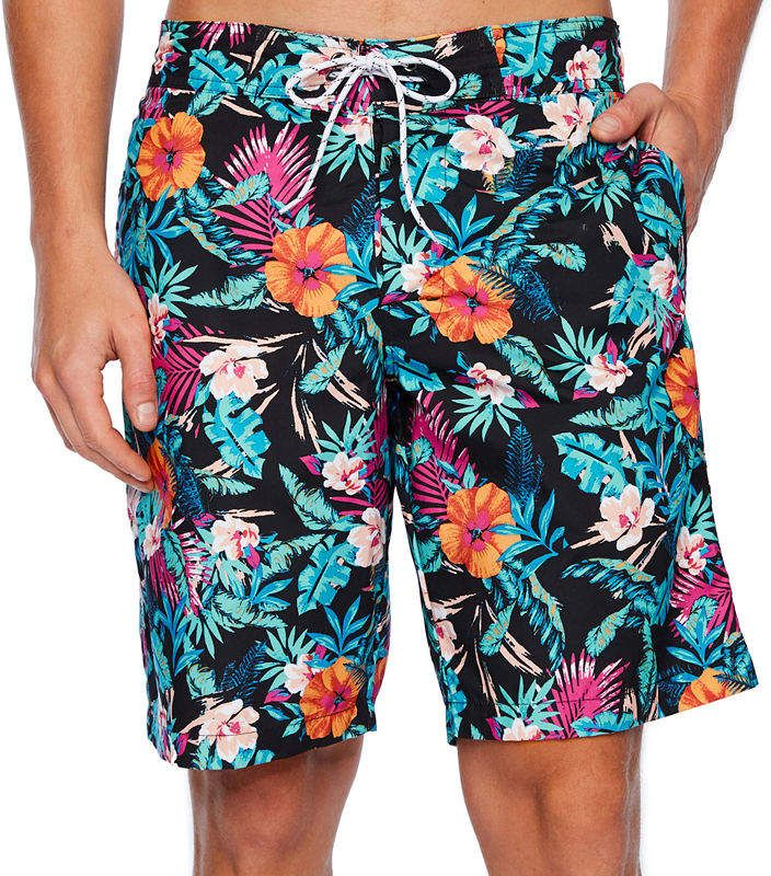 27a9329638 St. John's Bay Printed Microfiber E-Board Shorts in 2019 | Products ...