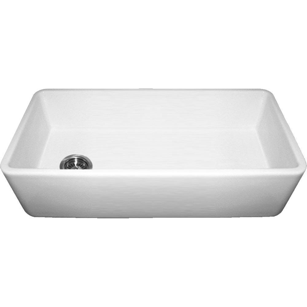 Duet Series 36 Inch Farmhouse Fireclay Farmhouse Kitchen Sink No Faucet Drillings Apron Front Kitchen Sink Farmhouse Sink Kitchen Sink