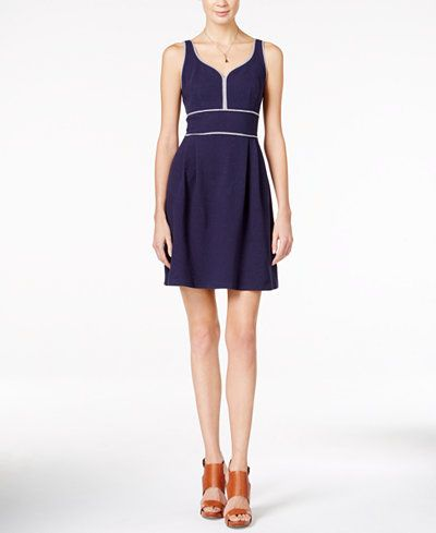 Maison Jules Sweetheart-Neck Fit & Flare Dress, Only at Macy's