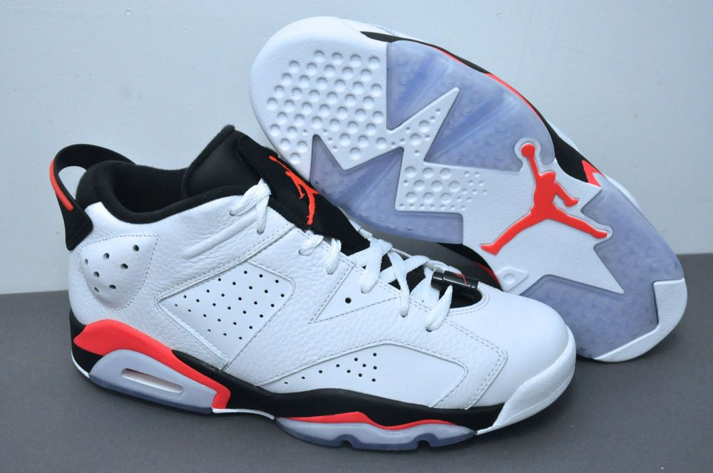 meet 36f15 75d0b Nike Air Jordan 6 VI Retro Low White Infrared 23-Black 304401-123 Size 9.5  DS  Jordan  BasketballShoes