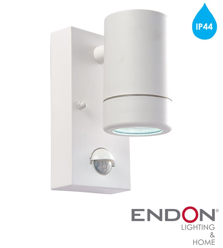 Endon  Icarus PIR  IP44 LED 1 Light Outdoor Wall Light  White Polypropylene   Endon  Icarus PIR  IP44 LED 1 Light Outdoor Wall Light  White  . Exterior Pir Led Lights. Home Design Ideas