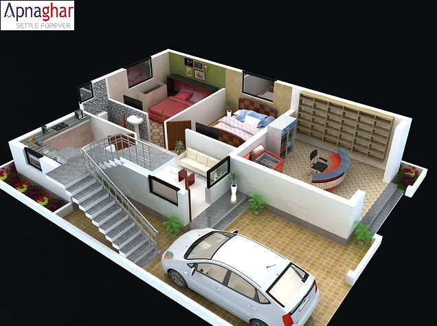 A 3d Floor Plan Lets You Plan Your House Space Rooms Halls And Kitchen Etc Before Starting Cons Farmhouse Floor Plans Drawing House Plans Unique House Plans