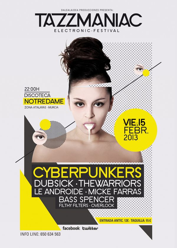 TAZZMANIAC. POSTER  Music Club  Party | Djs  House | Electro | Dance | Comercial