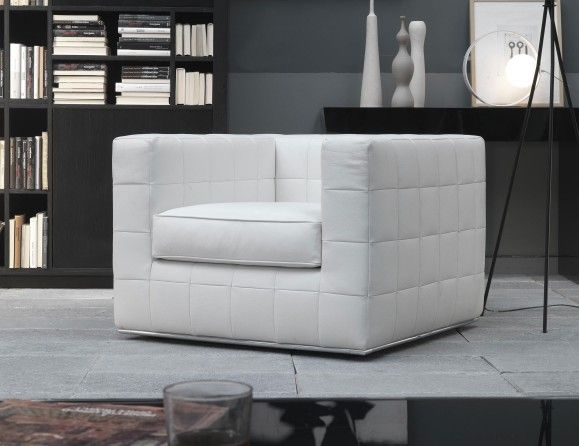 Modern Italian Occasional Chair Upholstered Two Seater Designer Sofa Shown In Brown Leather With A White Leather Sofas Leather Sofa Chair Italian Sofa Designs