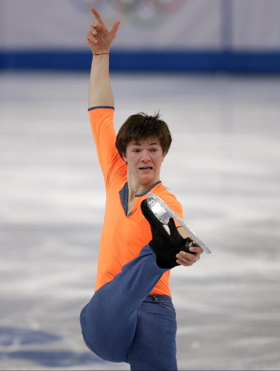 DAY 8:  Yakov Godorozha of Ukraine competes during the Figure Skating Men's Free Skate http://sports.yahoo.com/olympics