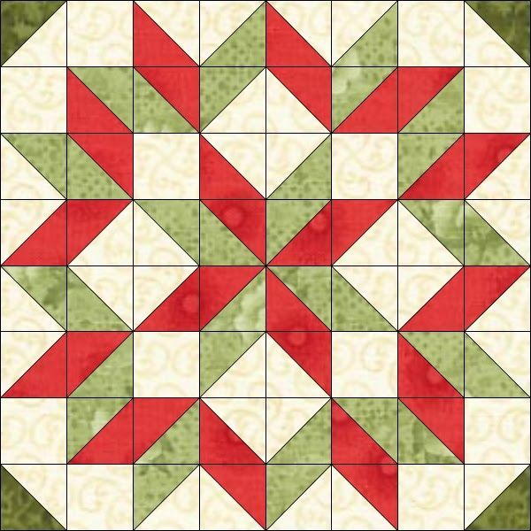 Free Christmas Quilt Patterns | With so many half-square triangles ...