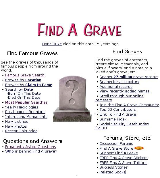 find a grave by name for free