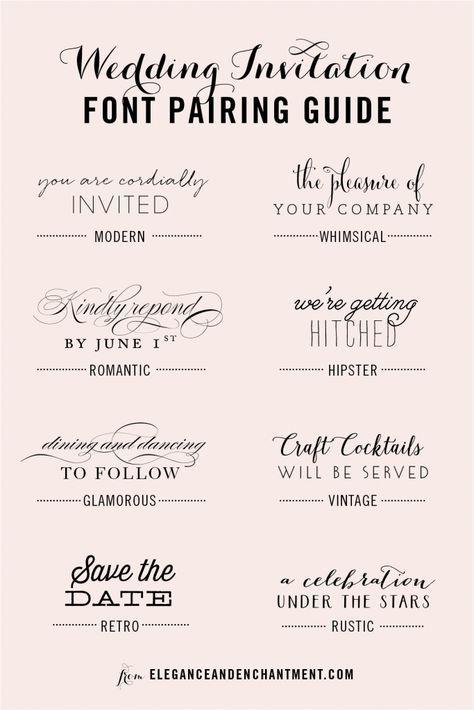 Wedding Invitation Font Pairing Guide Wedding invitation fonts