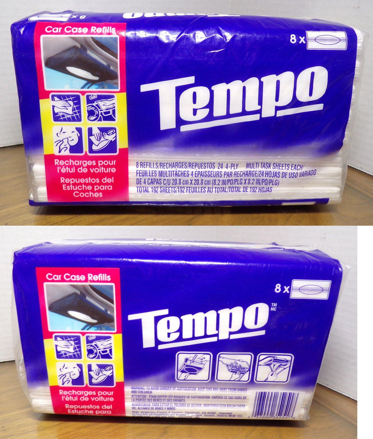 Tempo Auto Visor Tissue Refills 4 Pack