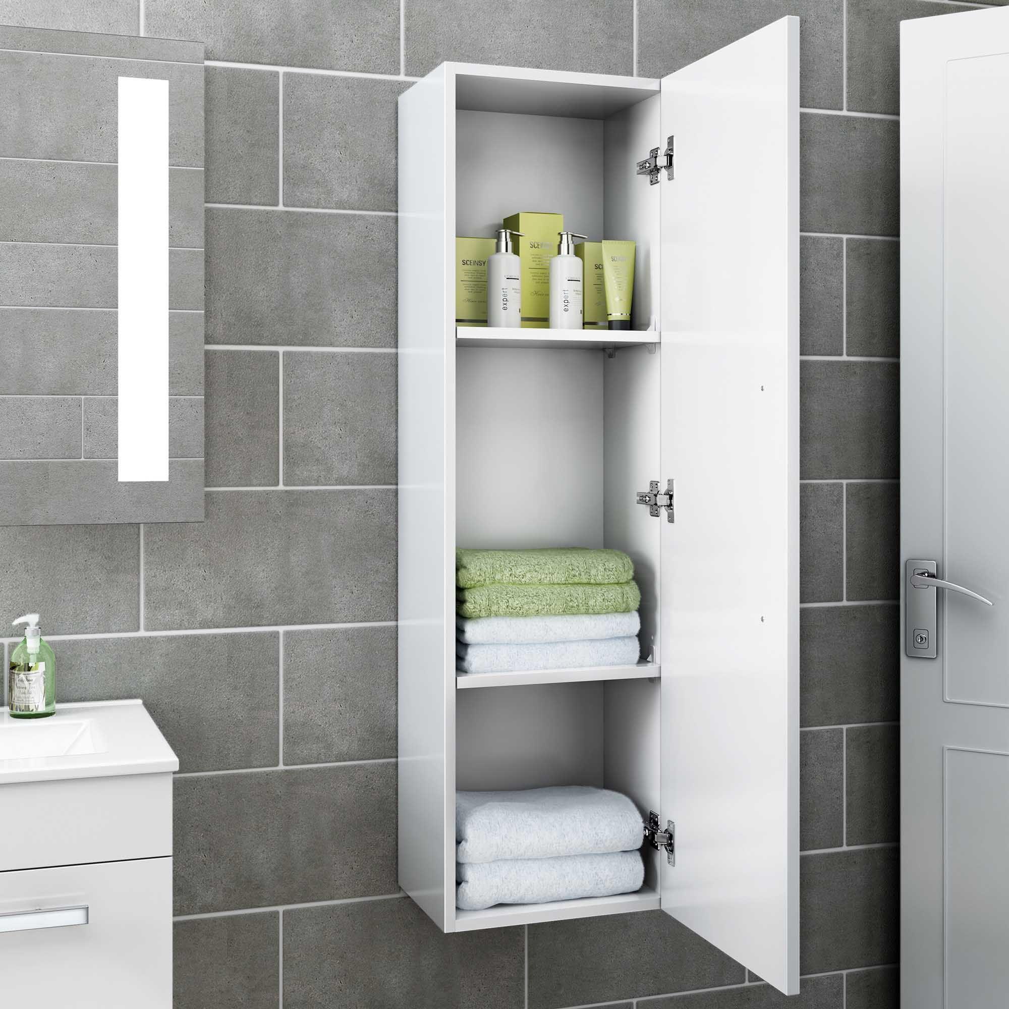1200mm Avon Gloss White Tall Storage Cabinet Wall Hung Soak Com Trucs Et Astuces Maison Salle De Douche Astuces Maison [ 2000 x 2000 Pixel ]