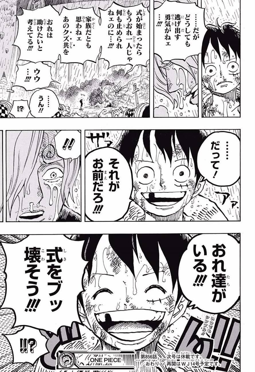 ワンピース Chapter 856 Page 17 アニメ 名言, 漫画, アニメ
