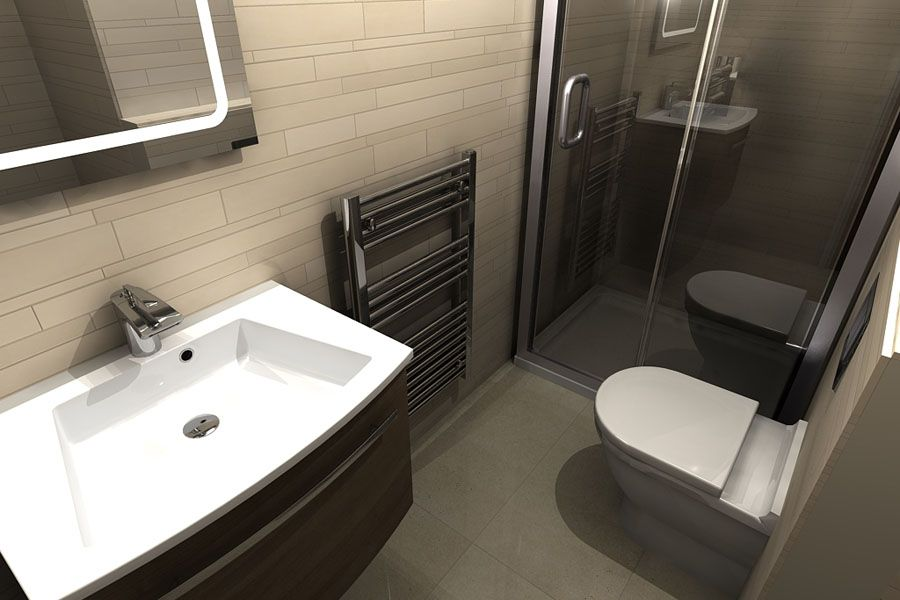 Virtual Design A Bathroom A Small Modern Shower Room With Large Sliding Shower Door Designed