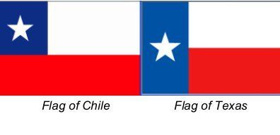 Chile Flag Vs Texas Flag Google Search Chile Flag Texas Flags Graphic Design Inspiration