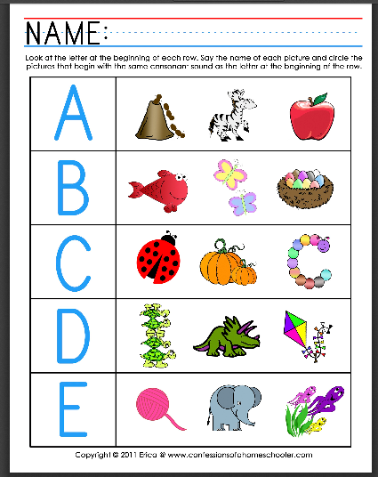 Worksheets Phonics Worksheets For Preschool beginning sounds and letters worksheets education com kindergarten reading writing worksheet initial sounds