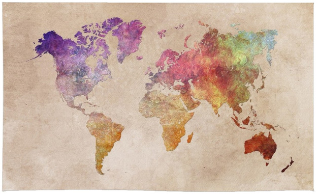 society6 world map watercolor rug 4x6 httpswww