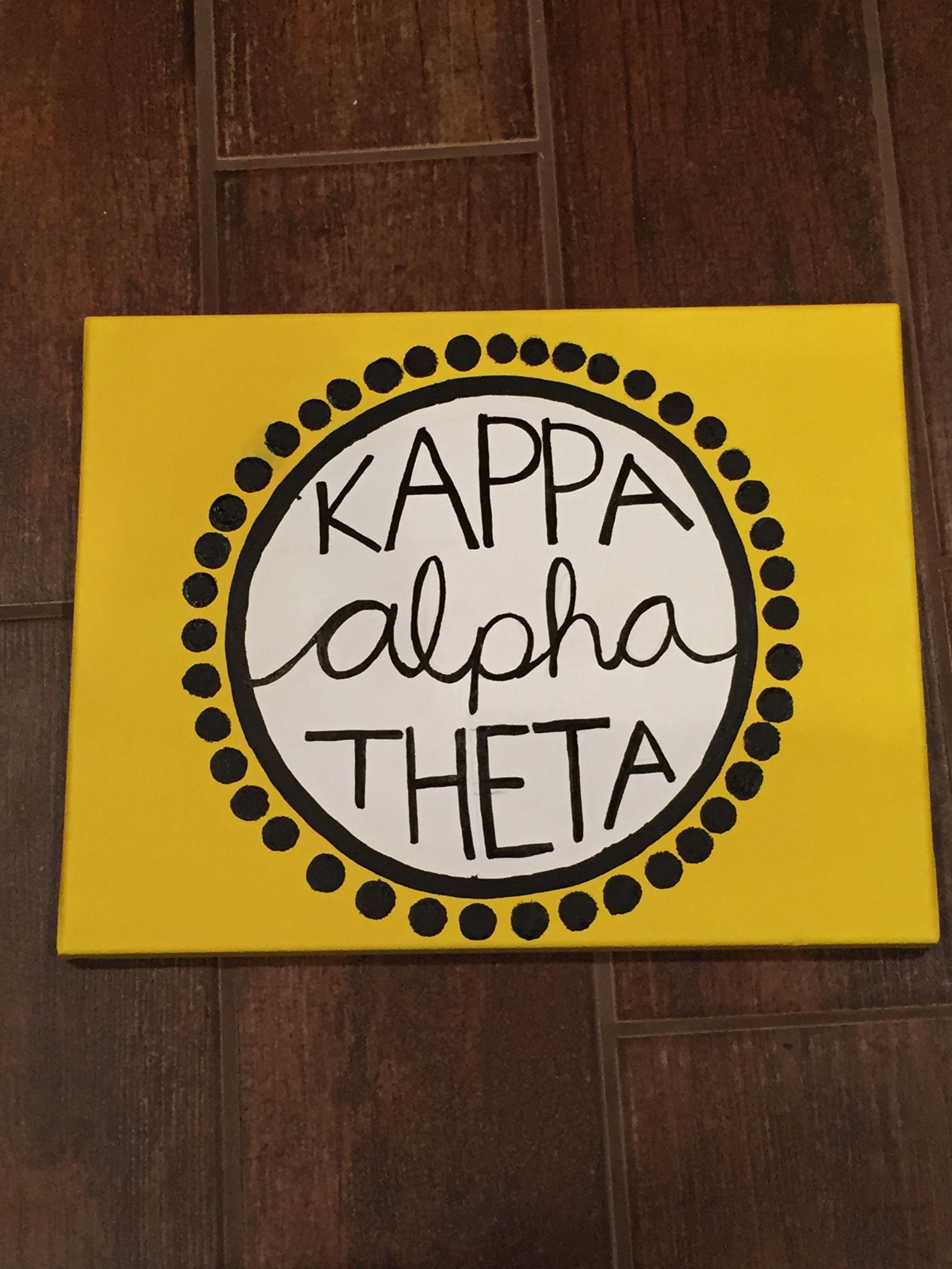theta cat meow Kappa Alpha Theta Sorority canvas