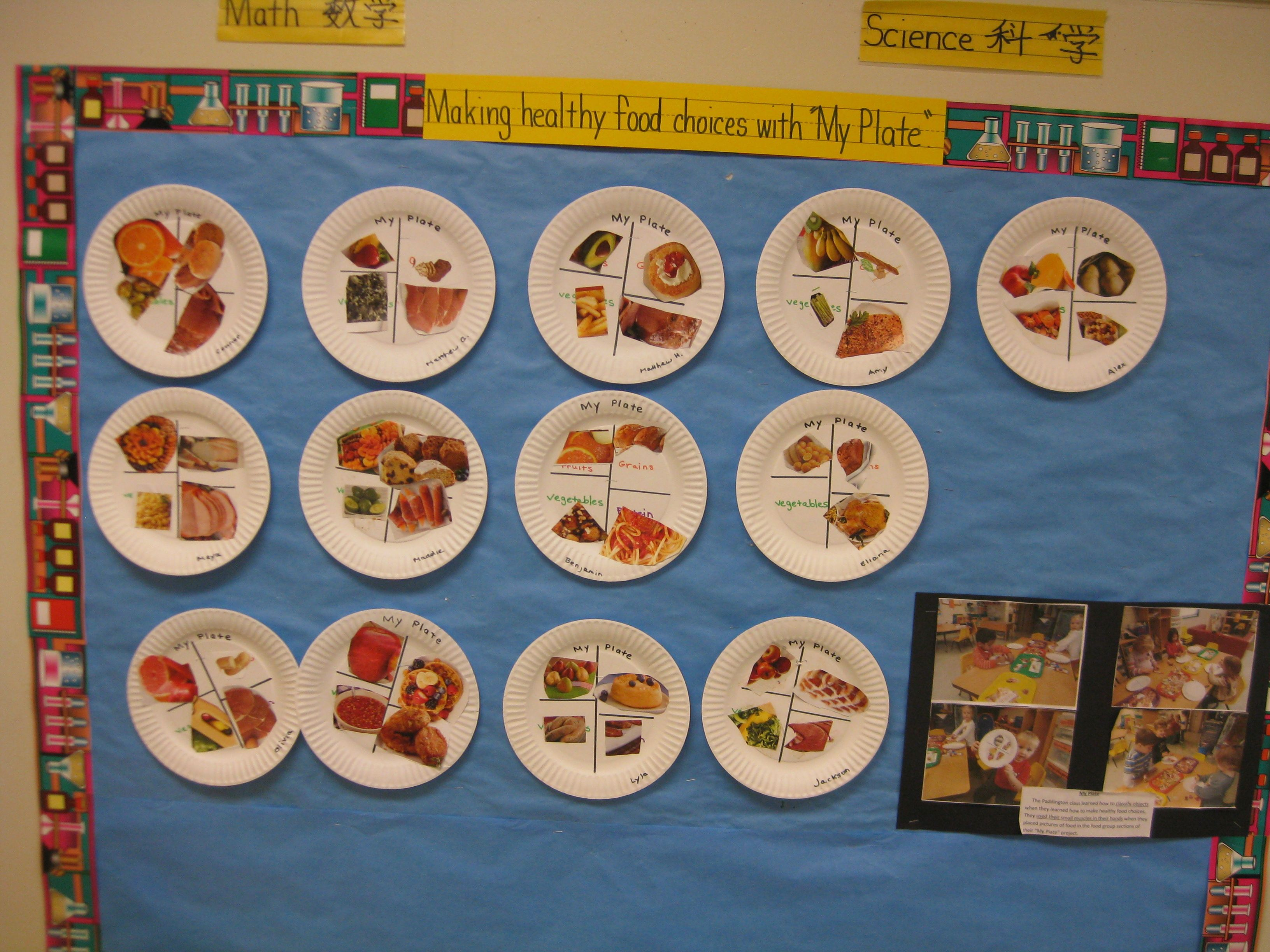 Teaching The Class About The Food Groups And Eating