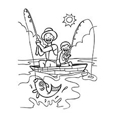 Fisherman Coloring Pages For Your Kids Fathers Day Coloring Page Coloring Pages Fish Coloring Page