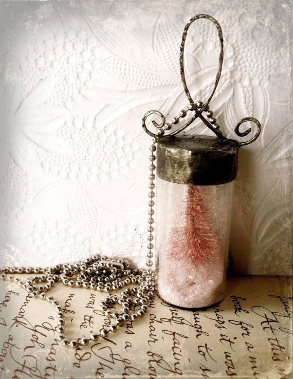 Snow Globe Necklace Pink Christmas Pendant Soldered By Mystarrrs