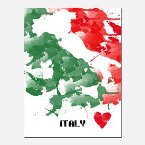 Italy Out Paint Print, $20, now featured on Fab.
