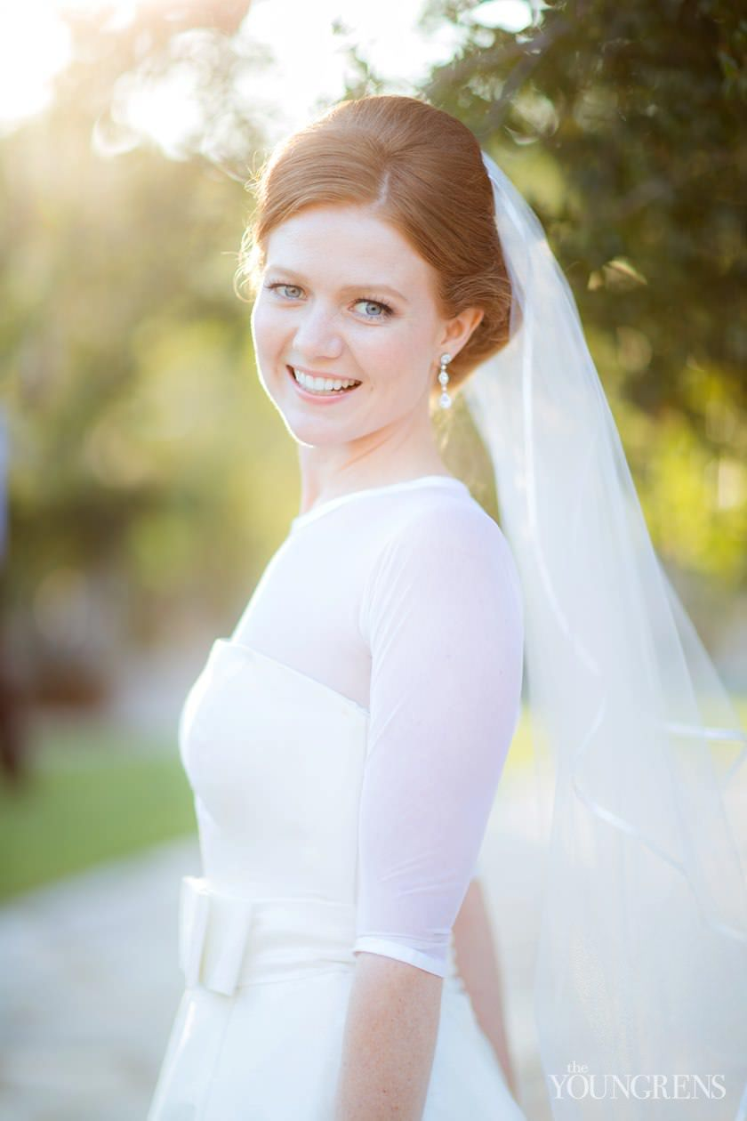 Classic bride at Riviera Country Club Wedding, Photography by The Youngrens