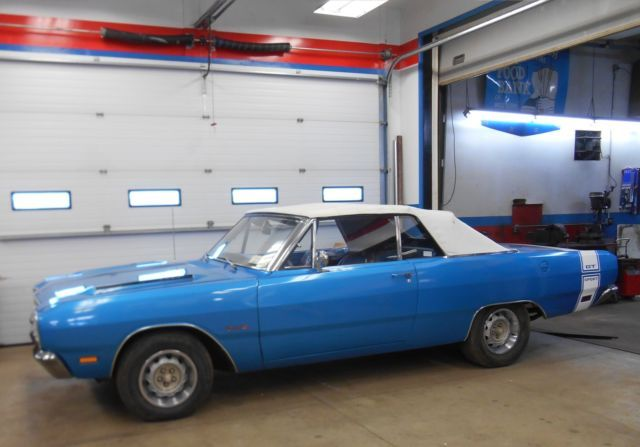 1969 Dodge Dart Gts Convertible 383 Magnum 4 Speed Blue 69 B5