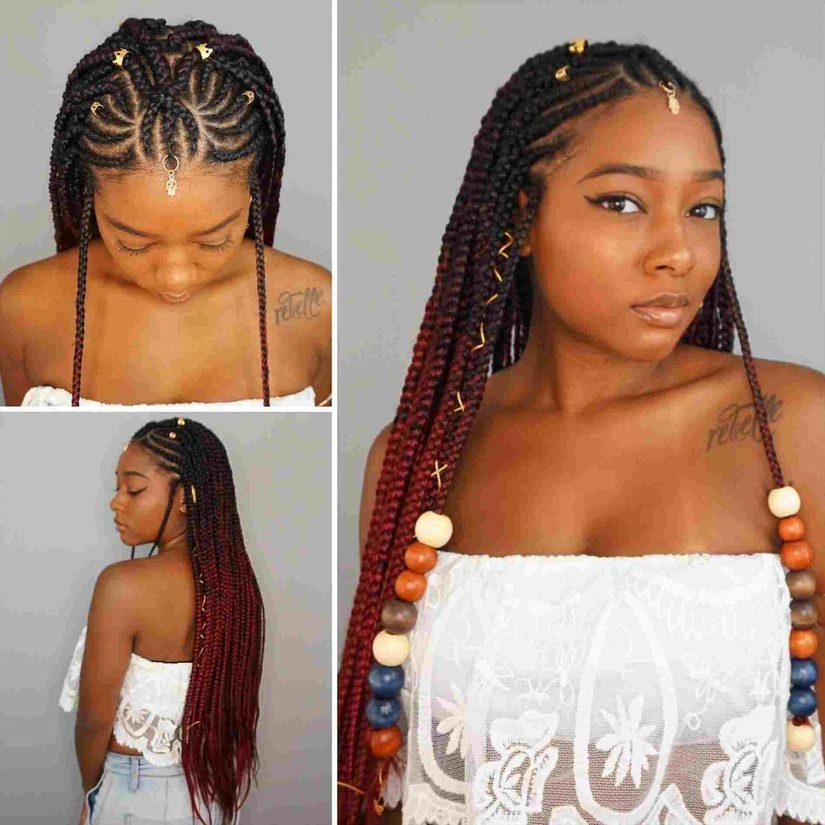 Nigerian Cornrows Hairstyle Hair Styles Cool Braid Hairstyles Braided Hairstyles For Teens