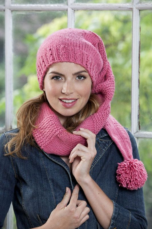 scarf hat by caron