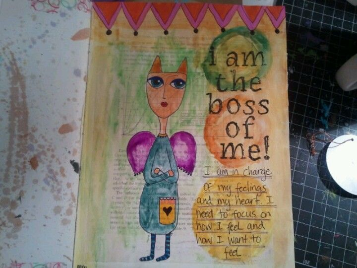 Journal page by Shelly Sazama in altered book