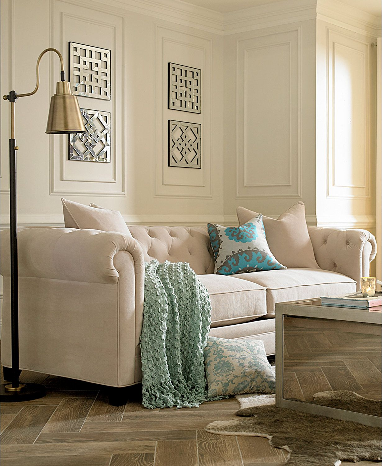 Soften the mood, elevate the styling factor,. Martha Stewart Collection Saybridge 92   Living room ...