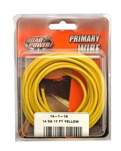Coleman Cable 14 1 14 14 Gauge 17 Foot Automotive Copper Wire Yellow By Coleman Cable 5 49 Coleman With Images Electricity Electrical Wiring Electrical Wire Connectors