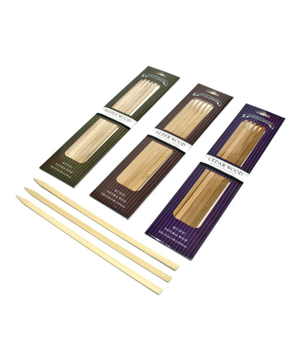 Another great find on #zulily! Maple, Alder & Cedar Wood Skewers by Charcoal Companion #zulilyfinds