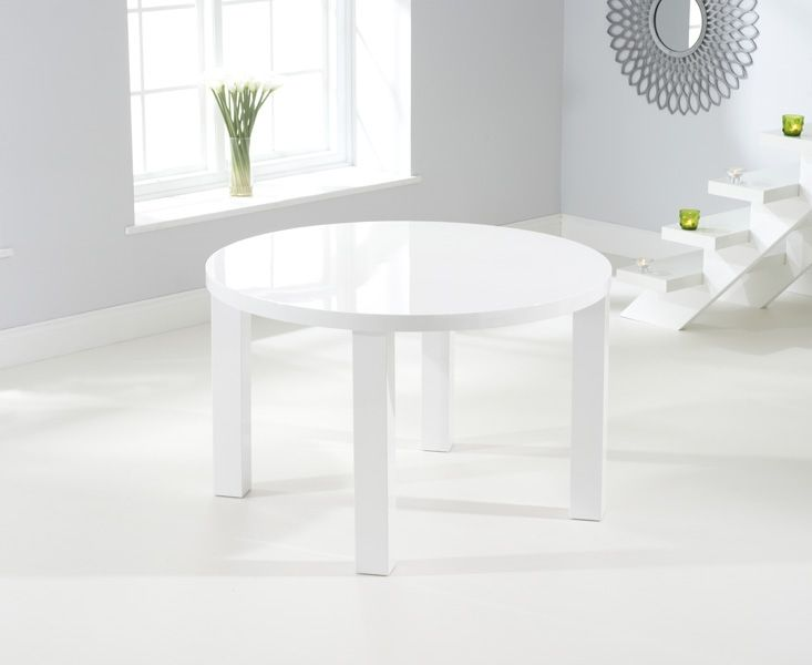 Mark Harris Ava White High Gloss 120cm Round Dining Table Round