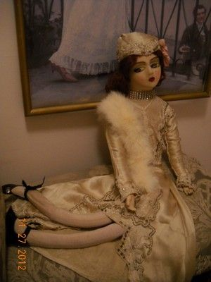 Bed Doll French Art Deco Fler Cloth