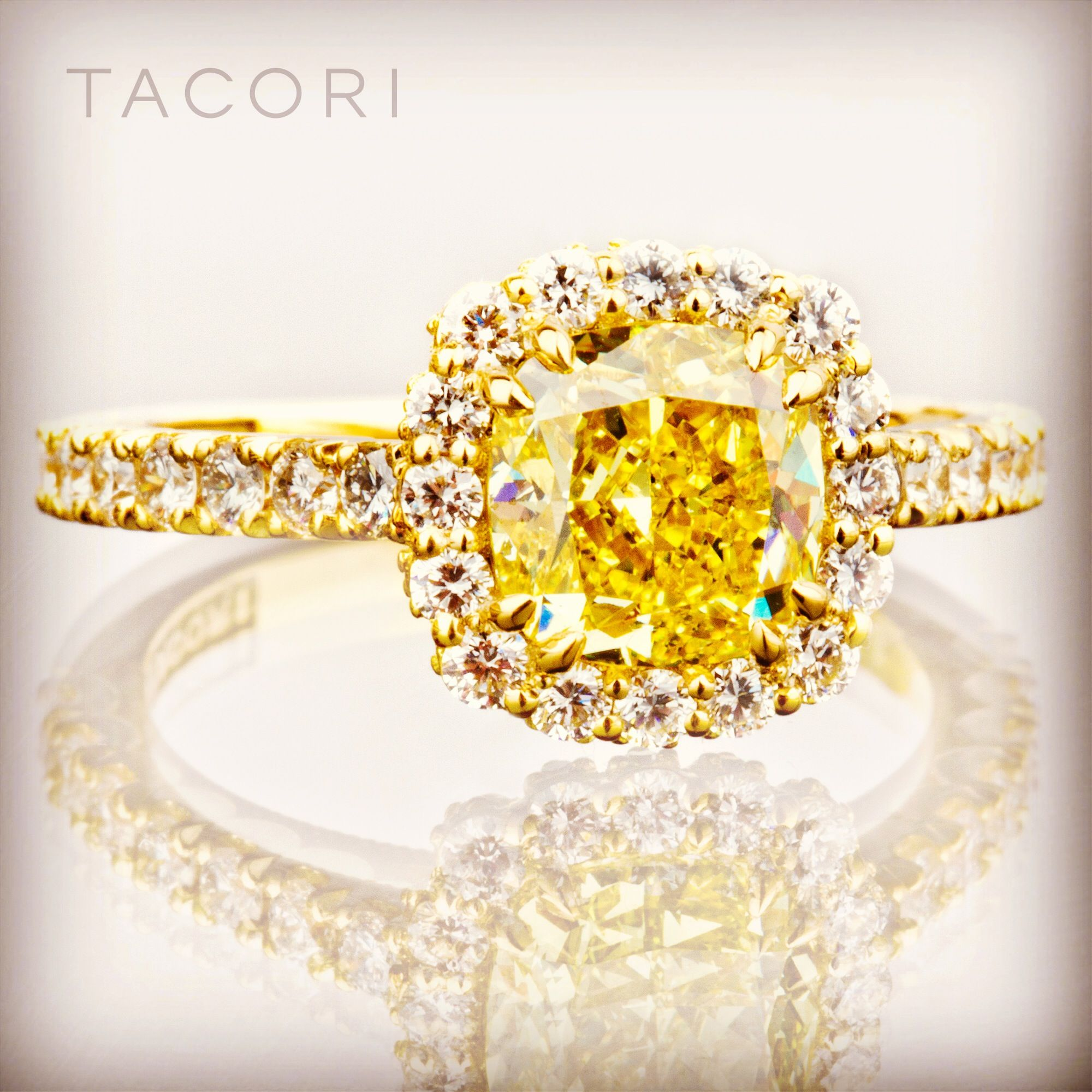 This Ray of Sunshine brightens every day Tacori engagement ring